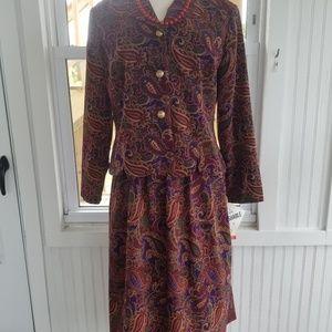2 Piece Vintage Paisley Skirt Set by Koret